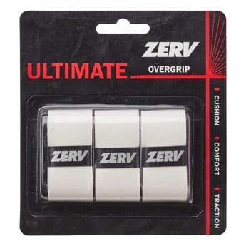 ZERV Ultimate Overgrip White 3-pak