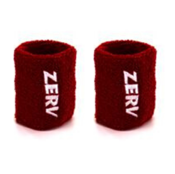 ZERV Sweatband Red 2-pack